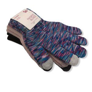 SO Favorite 3 Pack Screen Touch Gloves